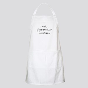 Knock if you can hear my voice Apron