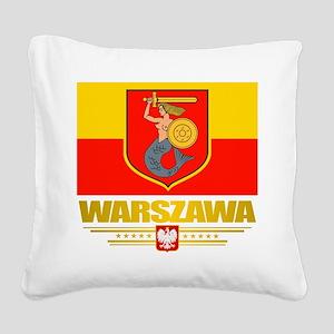 Warszawa Square Canvas Pillow