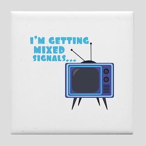 Mixed Signals Tile Coaster