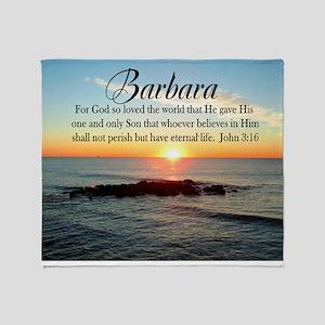 JOHN 3:16 VERSE Throw Blanket