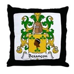 Besancon Family Crest  Throw Pillow