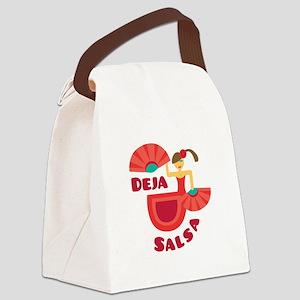Deja Salsa Canvas Lunch Bag