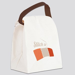 Stitch It Canvas Lunch Bag