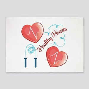 Healthy Hearts 5'x7'Area Rug