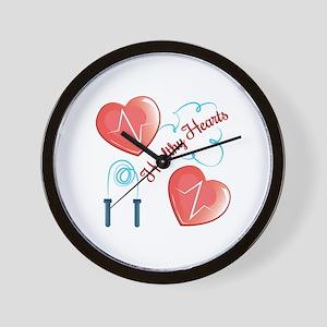Healthy Hearts Wall Clock