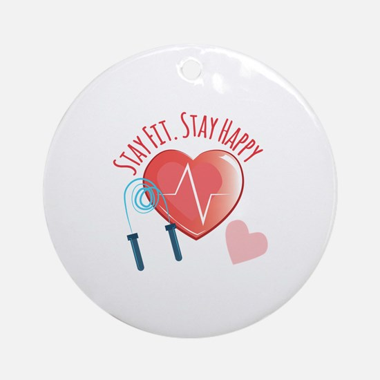 Stay Fit Ornament (Round)