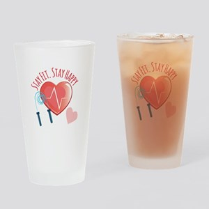 Stay Fit Drinking Glass