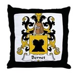 Bernet Family Crest Throw Pillow