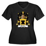 Bernet Family Crest Women's Plus Size V-Neck Dark