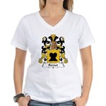 Bernet Family Crest Women's V-Neck T-Shirt