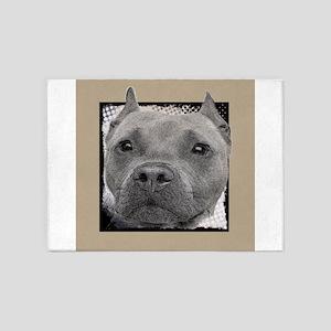 Pitbull Dog 5'x7'Area Rug