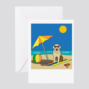 Summer Yellow Lab Greeting Card