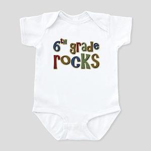 6th Grade Rocks Sixth School Infant Bodysuit