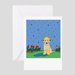 Spring Yellow Lab Greeting Card