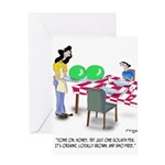 Vegetable Cartoon 9269 Greeting Card