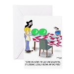 Vegetable Cartoon 9269 Greeting Cards (Pk of 10)
