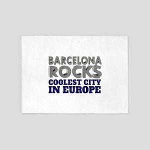 Barcelona Rocks Coolest City in Eur 5'x7'Area Rug