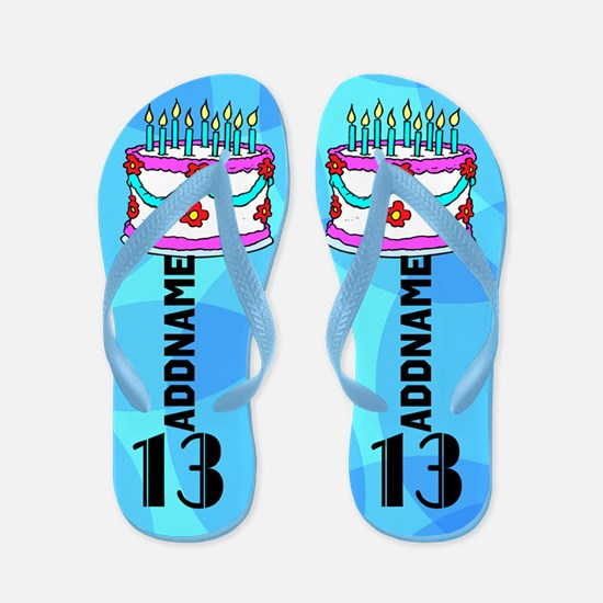 Pretty Blue 13th Flip Flops