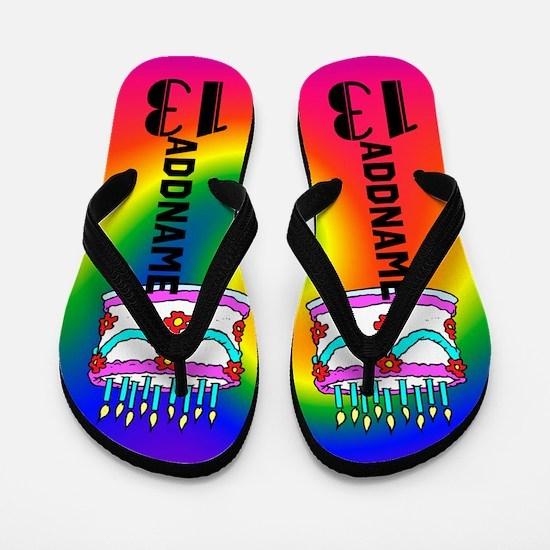 Festive 13th Flip Flops