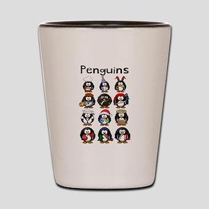Penguins Shot Glass