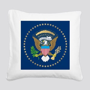 Presidential Seal Square Canvas Pillow