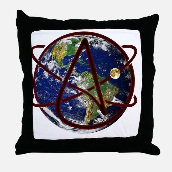 Cute Atheist symbol Throw Pillow
