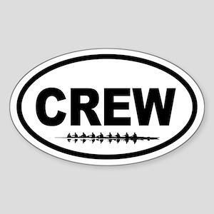 Crew Eight Oval Sticker