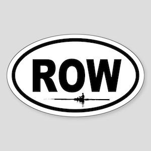Row Scull Oval Sticker