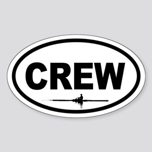 Crew Scull Oval Sticker