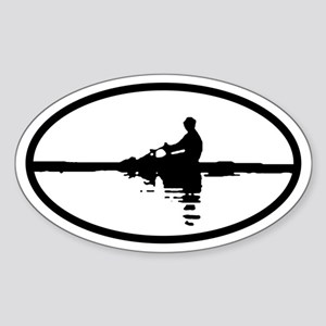 Sculler Oval Sticker