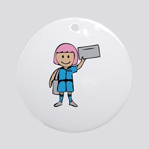 Mail Lady Ornament (Round)
