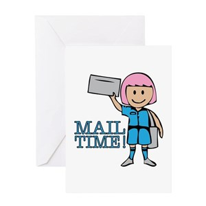 Mail carrier greeting cards cafepress m4hsunfo