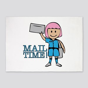 Mail Time 5'x7'Area Rug