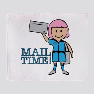Mail Time Throw Blanket