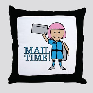 Mail Time Throw Pillow