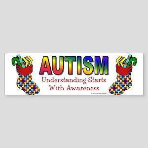 Autism Christmas Stocking 5 Bumper Sticker