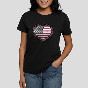 I Love USA Women's Dark T-Shirt