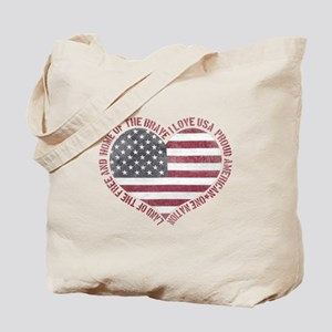 I Love USA Tote Bag