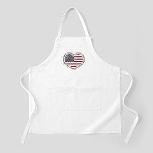 I Love USA Apron