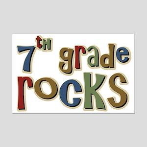 7th Grade Rocks Seventh School Mini Poster Print