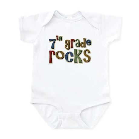 7th Grade Rocks Seventh School Infant Bodysuit