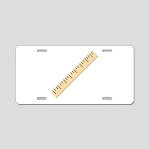 Ruler Aluminum License Plate