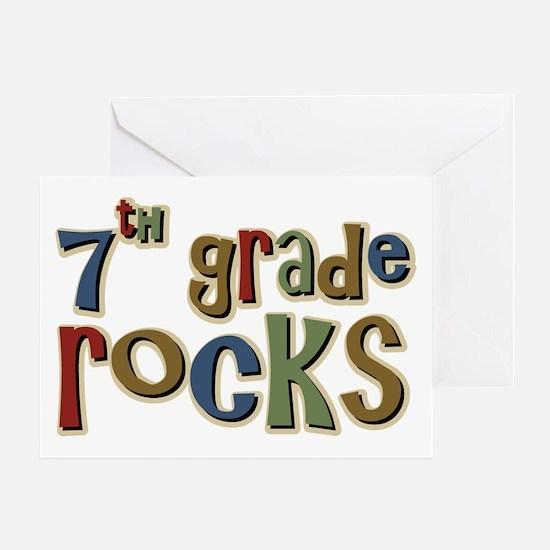 7th Grade Rocks Seventh School Greeting Card