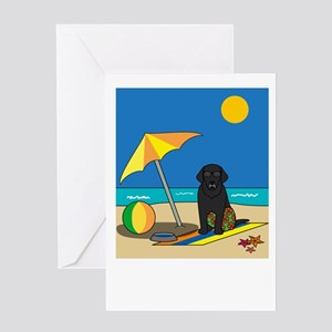 Summer Black Lab Greeting Card