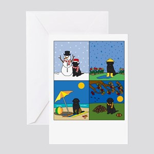 Black Lab Four Seasons Greeting Card