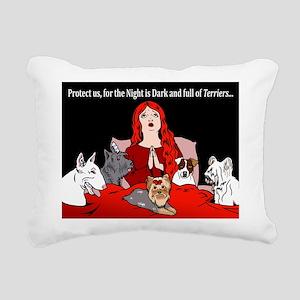 Night of Terriers Rectangular Canvas Pillow