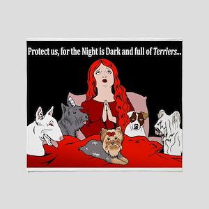 Night of Terriers Throw Blanket