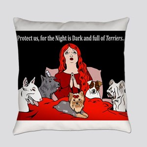 Night of Terriers Everyday Pillow