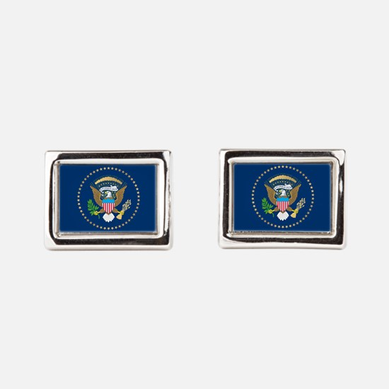 Presidential Seal Rectangular Cufflinks