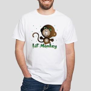 Funky Lil' Monkey White T-Shirt